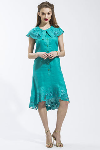 Sleeveless Flora Dress (Teal) Style 1748