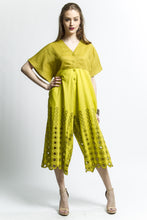Cut out Art to Wear Jumpsuit (Mustard/Citrus) Style #1762