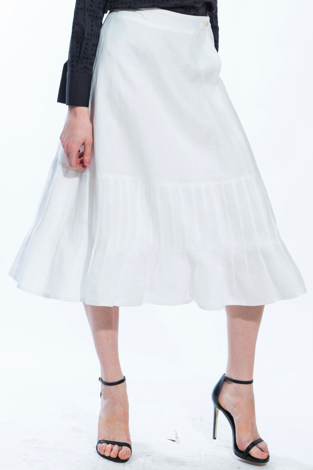 Pleated Fit and Flare Skirt Style # 1774
