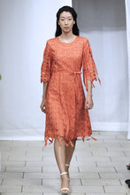 Ribbon Threaded Circle Dress (Orange) Style 1788
