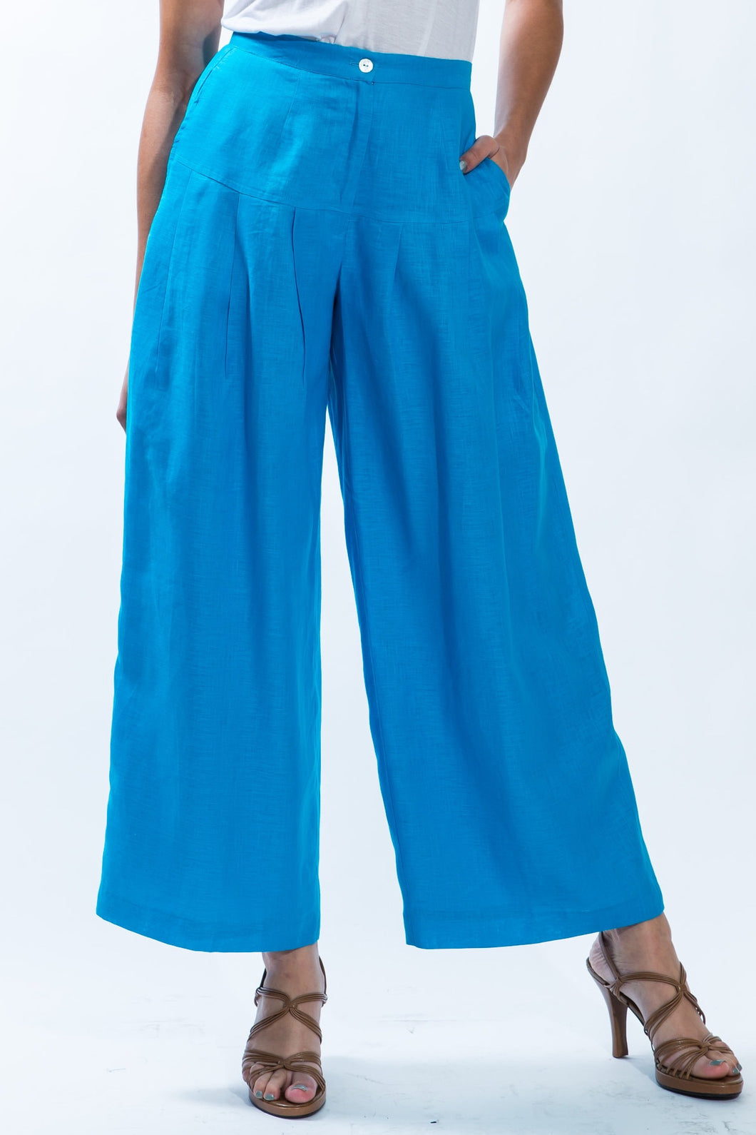 FLARED LINEN PANTS STYLE 1820