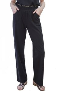 Comfy Cotton Black Pants Style 7494