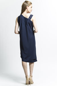 Lotus Dress (Navy) Style 7554