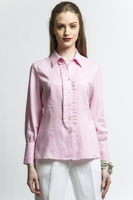 Pleated Dress Shirt Style 7569