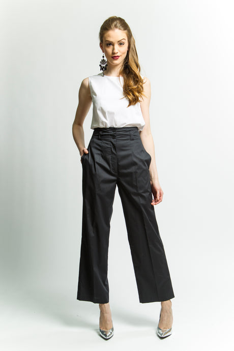 Black High Waisted Pants (Style # 8160)