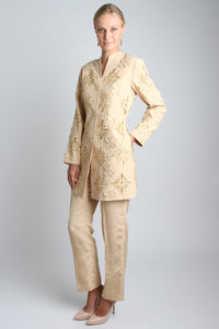 Embroidered Soil Yellow Embroidered Suit Style 8193