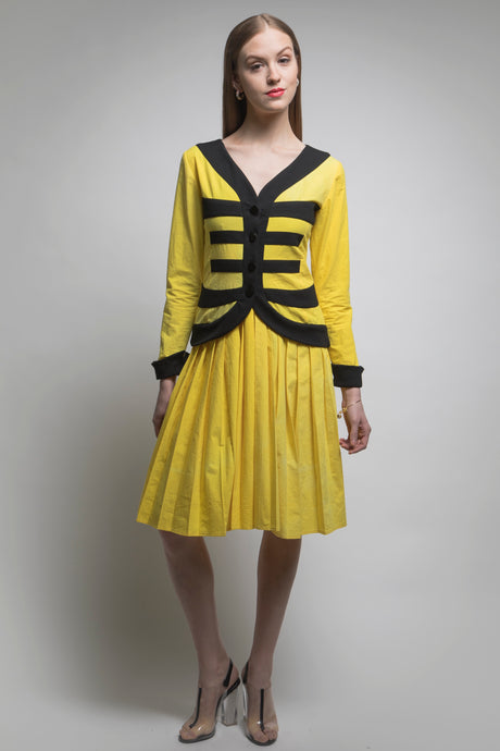 Mei 美 Dress (Yellow/Black) Made in NYC
