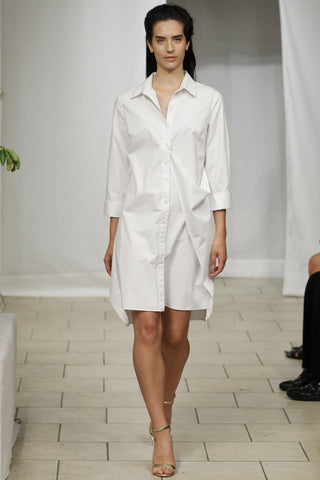 Transformable Cotton Shirt Dress (White) Style # 1747