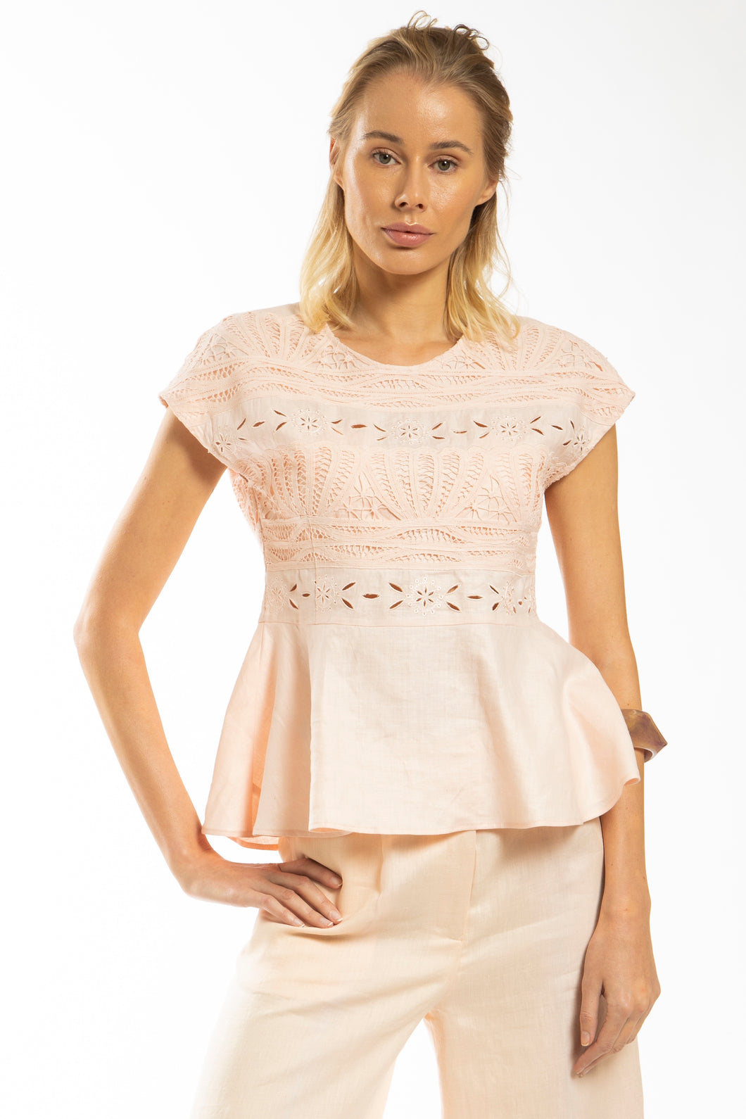 Made in NYC: UpCycled Peplum Lace Top