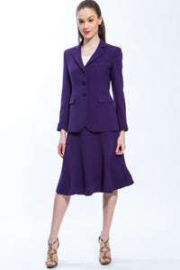 Classic Jacket & Skirt Suit Set (Purple) Style 158/159
