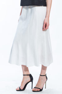 Linen Fit & Flare Skirt Style 8154