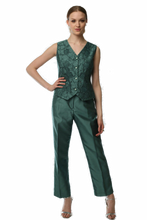 Abstract Flora 3 Piece Pant Suit (Green) Style# 1743CP