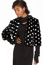 Polka Dot Faux Fur Short Jacket Style #9309
