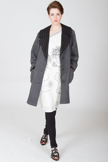 Classic Embroidered Big Coat Style 9293