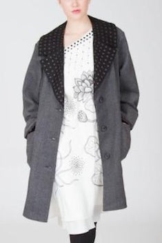 Classic Embroidered Herringbone Lotus Coat Style# 9293