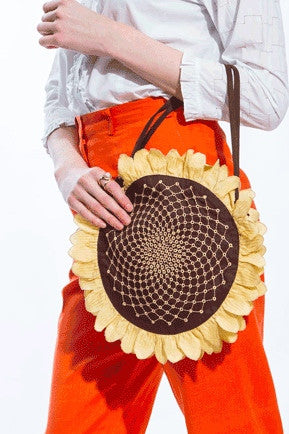 Embroidered Sunflower Bag