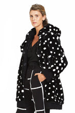 Polka Dot Faux Fur Coat with detachable hoodie Style# 160