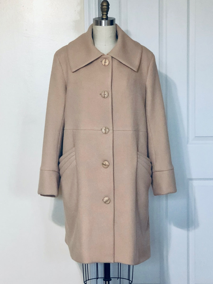 Beverly's Cashmere Coat (Beige) - Style# 321
