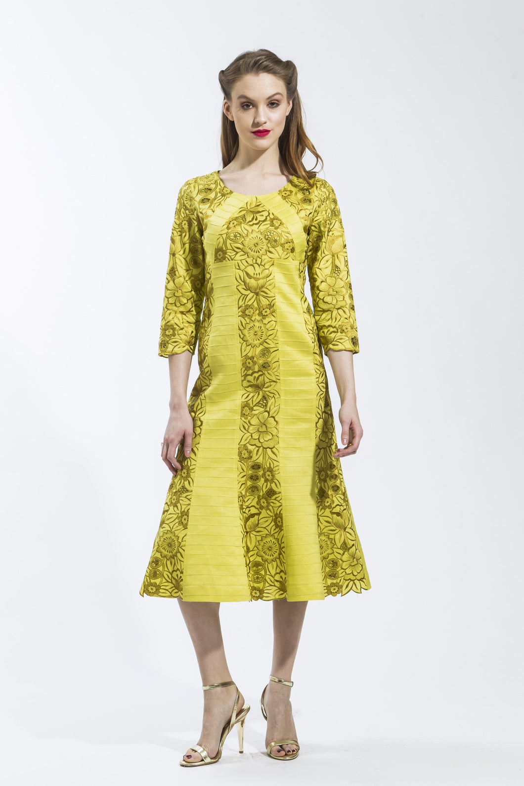 Linen Panel Dress (Citrus) Style 1797