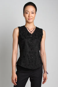 Embroidered Vest (Black) Style 7959