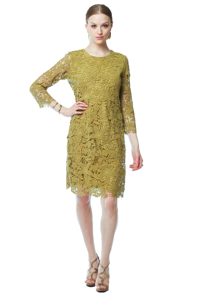 Quintessential Lace Dress (Olive Green) Style # 1298