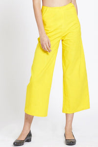 Made in NYC: Turmeric Gold Cropped Pants