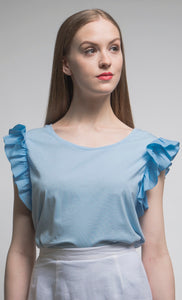 Made in NYC: Customizable Ruffle T-Shirt Style# 1067
