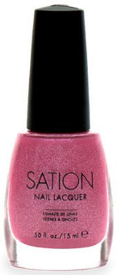 Sation Pink Sparkle Nail Polish 1032