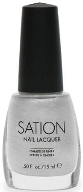 Sation White Sparkle Nail Polish 1054