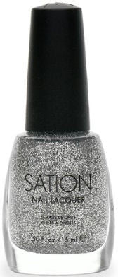 Sation Silver Glitter Nail Polish 1057
