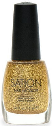 Sation Gold Glitter Nail Polish 1087
