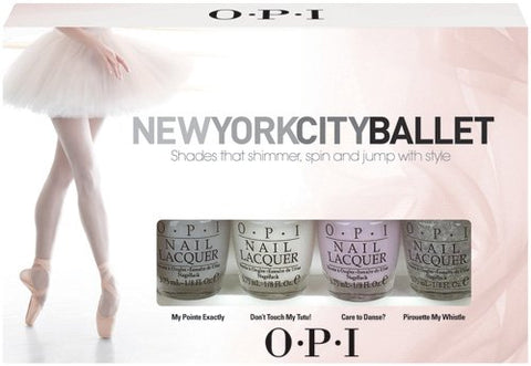 OPI New York City Ballet 4 Piece Mini Nail Polish Set DCP17