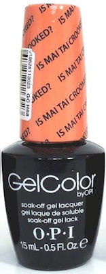 OPI Is Mai Tai Crooked? Gel Nail Polish GCH68