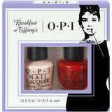 OPI Breakfast at Tiffany Mini Duo Nail Polish Set #2 (Red & Pink) HRH24