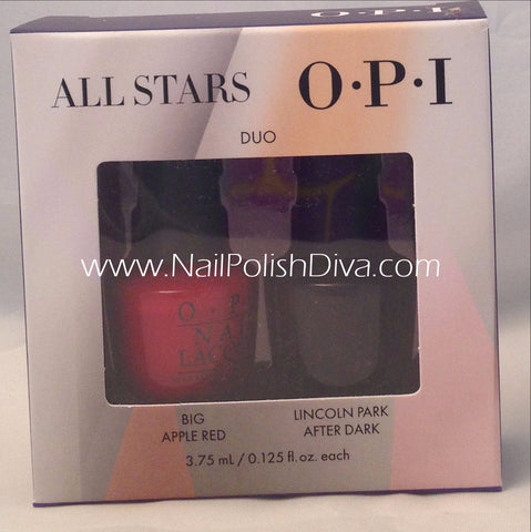 OPI All Stars Mini Nail Polish (Lincoln Park & Apple Red) HRG10