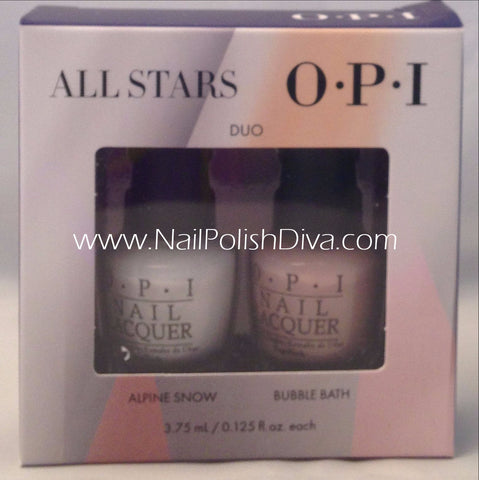 OPI All Stars Mini Nail Polish (Alpine Snow & Bubble Bath) HRG09