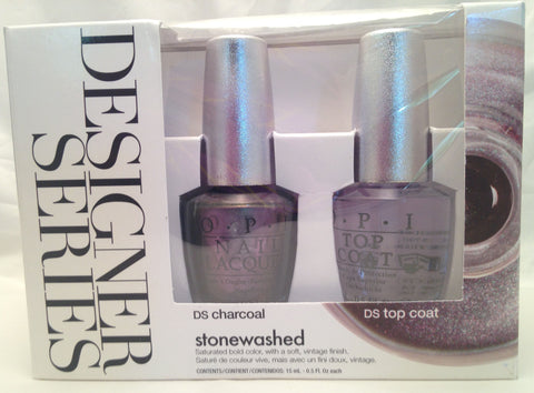 OPI Designer Stonewashed Charcoal Nail Polish Set DSP05