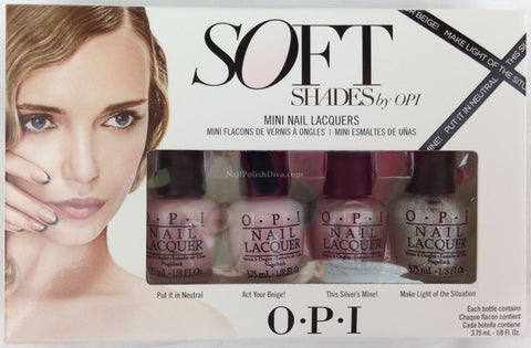 OPI Soft Shades Mini Nail Polish Set DDS26