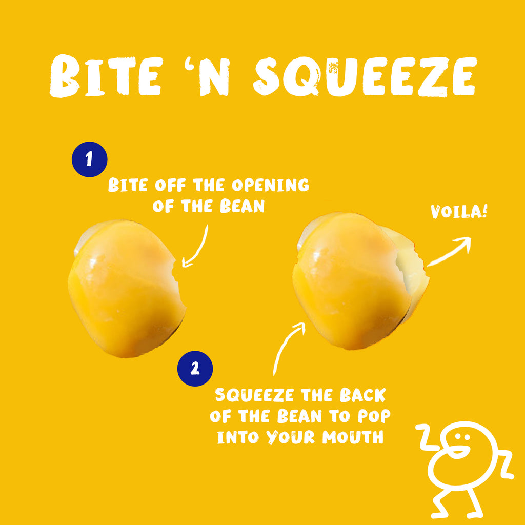 Bite 'N Squeeze - How to eat BRAMI Snacking Lupini Beans