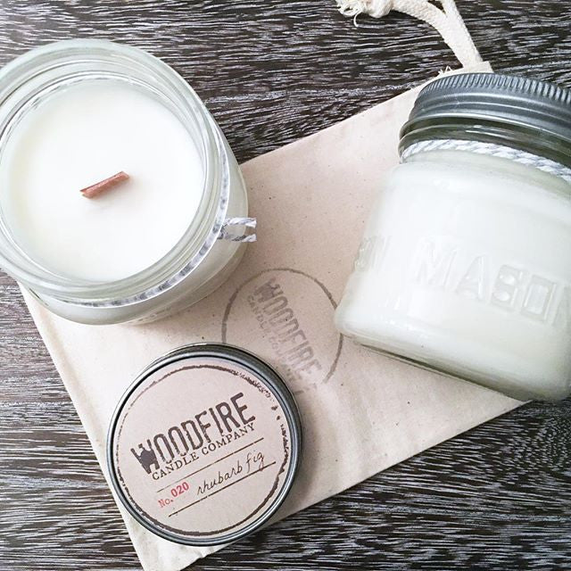 Pick 2 Mason Jar Wood Wick Soy Candle - Woodfire Candle Co - 2