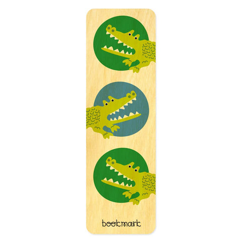 Night Owl Paper Goods - Alligator Wood Bookmark