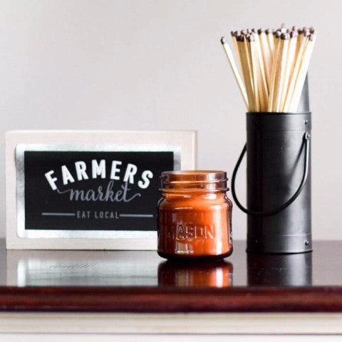 Pick 3 Amber Mason Wood Wick Candle