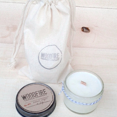 Jelly Jar Wood Wick Soy Candle - Woodfire Candle Co - 3