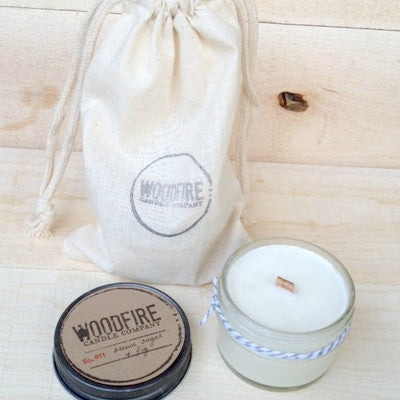 Pick 2 Jelly Jar Wood Wick Soy Candles - Woodfire Candle Co - 2