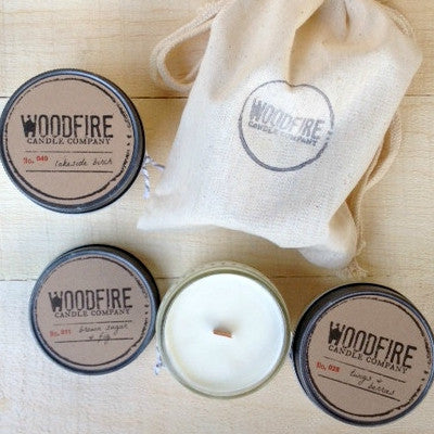 Pick 2 Jelly Jar Wood Wick Soy Candles - Woodfire Candle Co - 3