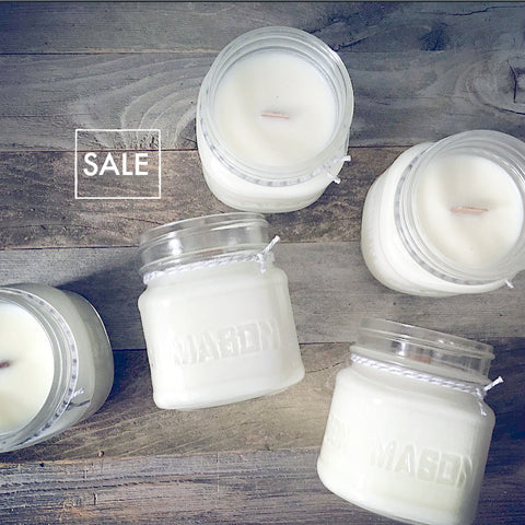 SALE Pick 3 Mason Jar Wood Wick Soy Candle - Woodfire Candle Co - 1