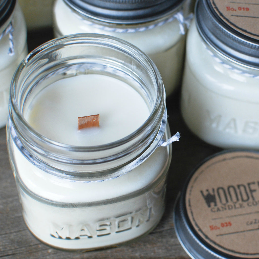Mason Jar Wood Wick Soy Candle - Woodfire Candle Co - 3
