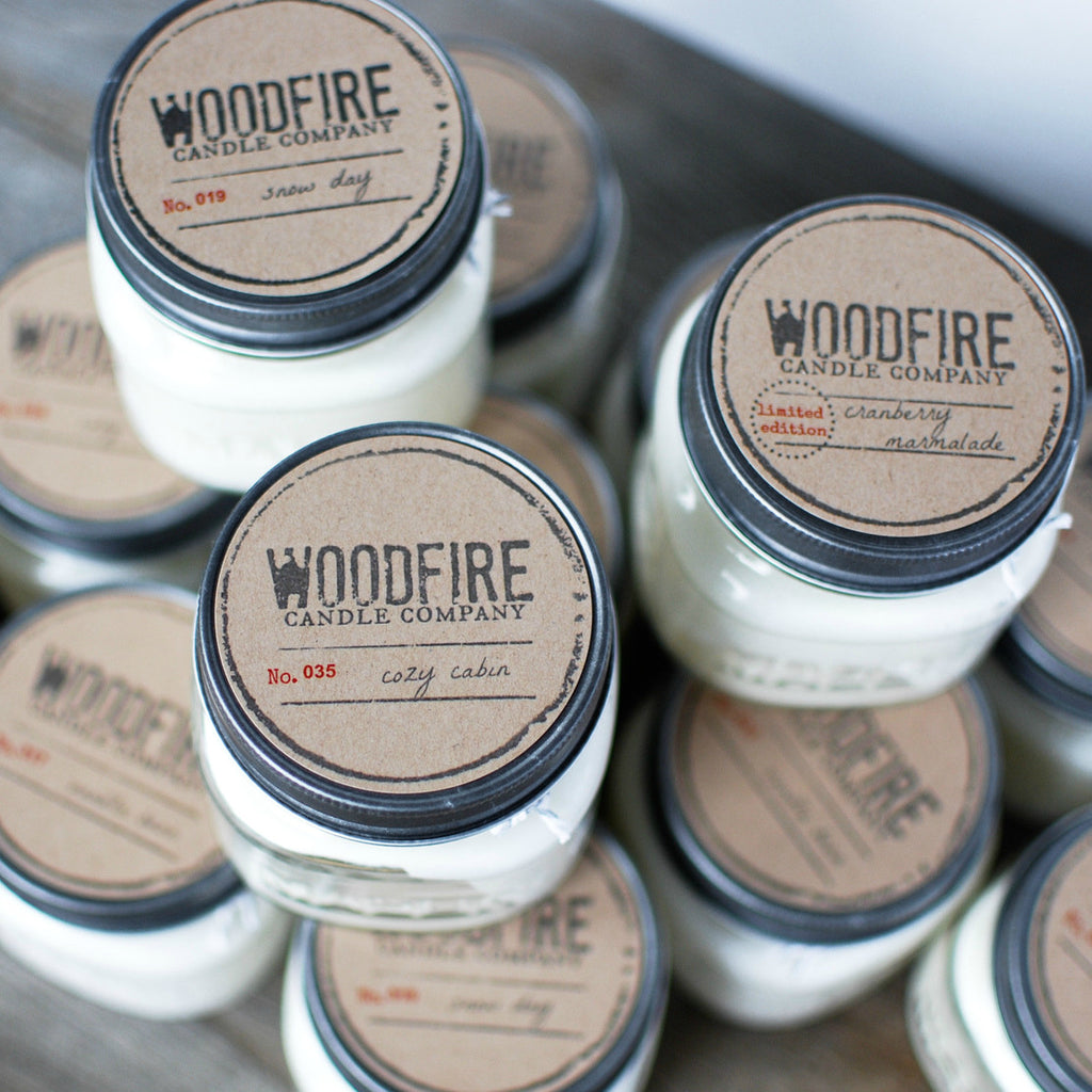 SALE Pick 3 Mason Jar Wood Wick Soy Candle - Woodfire Candle Co - 3