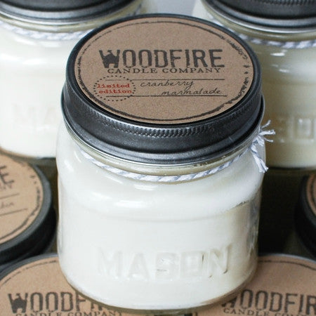 Mason Jar Wood Wick Soy Candle - Woodfire Candle Co - 2