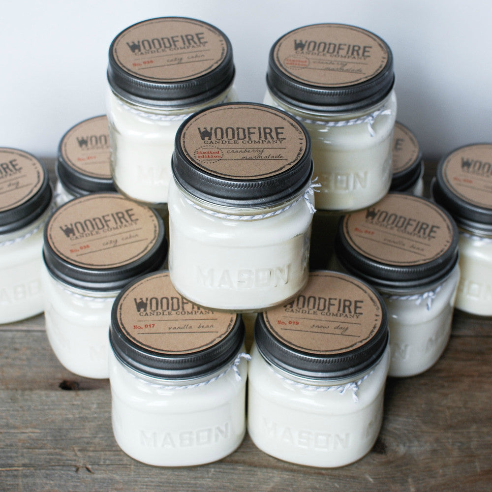 Pick 3 Mason Jar Wood Wick Soy Candle - Woodfire Candle Co - 3